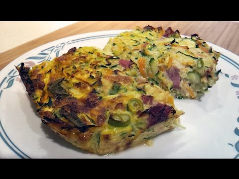 Zucchini Slice — LCHF, Low Carb, Wheat Free, Gluten Free, Primal