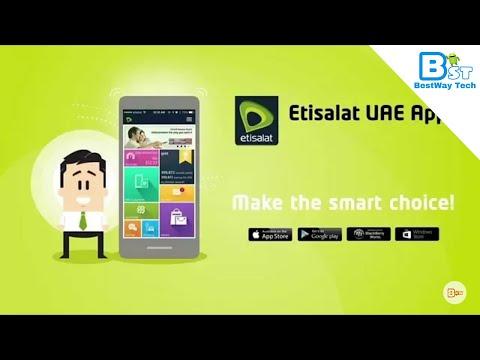 How to used Etisalat App In Dubai UAE very easy in Hindi Urdo