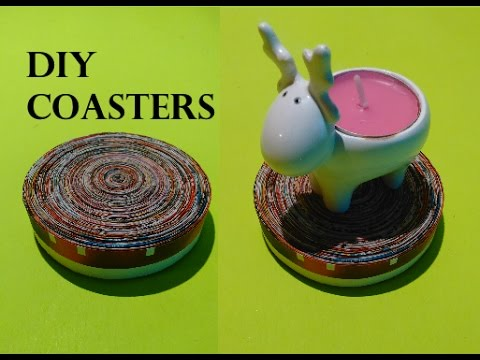 DIY - How To Make a Paper Coasters From Newspaper