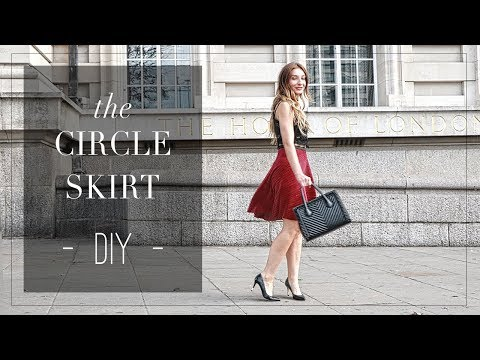 DIY   London Romance -- How to make a half circle skirt   Szilvia Bodi