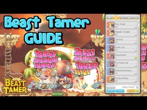 Daboki's Beast Tamer Skill Build Tips : MapleStory GMS