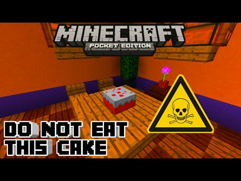 Minecraft PE | How To Make a Poisoned Cake! | Command   Block creation