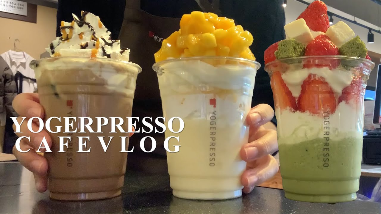 Eng) 요거프레소 카페 브이로그 🥤🍦❤️(cafe vlog, 요거프레소)