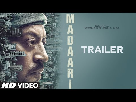 MADAARI Official Trailer 2016  Irrfan Khan, Jimmy Shergill  T-Series