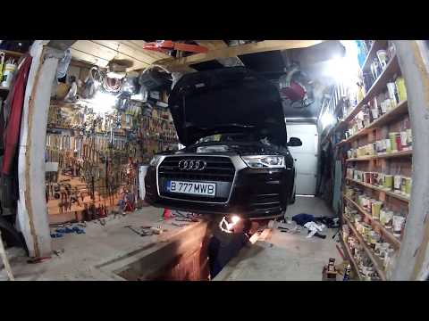Audi Q3 2.0 tdi S-tronic: mechatronic, dual mass flywheel and clutch assembly replacement