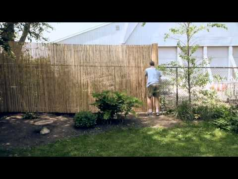 Installing a Bamboo Friendly Fence on a Chain Link Fence