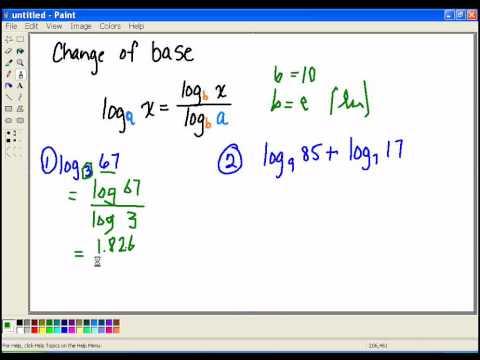 Change the base of Logarithm