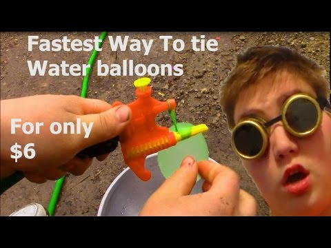 Tie-Not Water Balloon Filler & Tying Tool fastest way for only $6