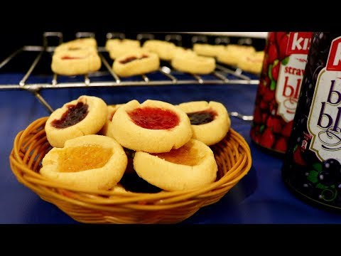 Eggless Thumbprint Cookies | Kitchen Time with Neha