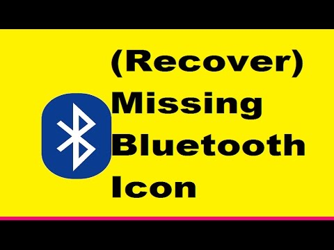Lost Bluetooth Icon (Recover) In Your Laptop  window 7,8,8.1,10
