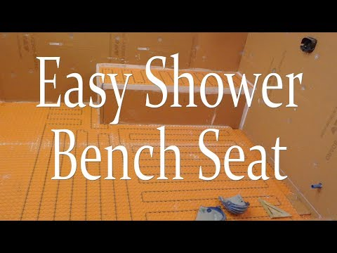 Easy quick way to build a shower bench seat