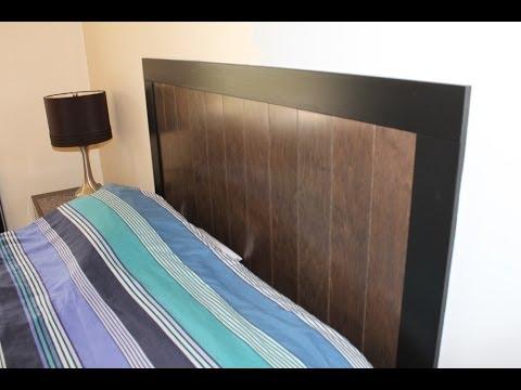Build a Headboard with Prefinished Engineered Hardwood Flooring