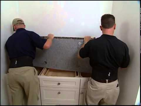 Installing a Granite Vanity Top