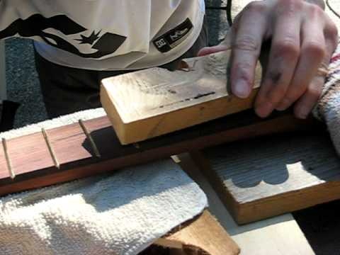 How to Install Frets with a Hammer and Wood Block