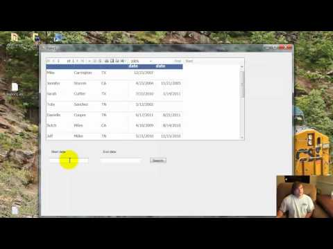 NBSC#// - Searching SQL Database Within a Date Range C# Visual Studio