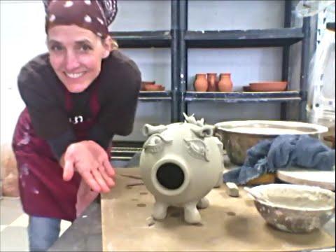 Making a Piggy Bank w/ a Potters wheel