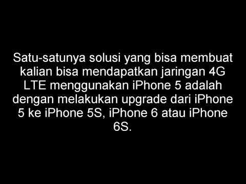 Cara Mudah Mengaktifkan 4G LTE di iPhone 5