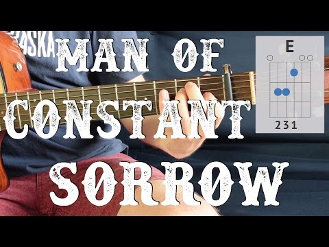 Man Of Constant Sorrow - Easy Guitar Lesson | 3 chords Simple Guitar Tutorial, How To Play