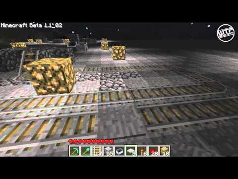 Minecraft - Intermediate Redstone Tutorial - How to build a minecart station(OUTDATED)