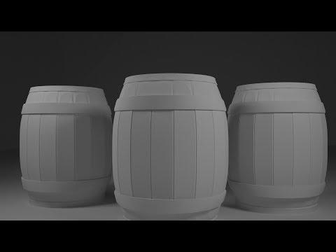 Tutorial 3ds max modelling realistic barrel
