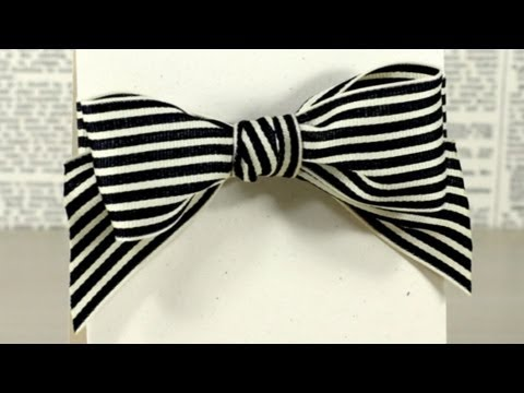 Tying A Bow With Wide Ribbon