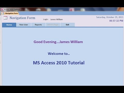 Function Greeting User on Open : MS Access 2010