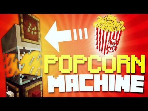 ✔️MINECRAFT PE - POPCORN MACHINE! [REDSTONE] // Working POPCORN maker! [MCPE]