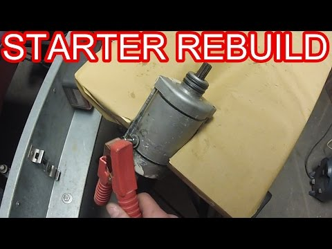 How to - Starter motor Rebuild