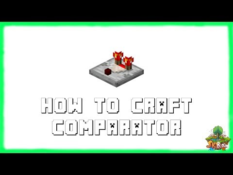 Minecraft 1.12.2: How to Make REDSTONE COMPARATORS! Recipe Tutorial for Minecraft 1.12.2 | 2018