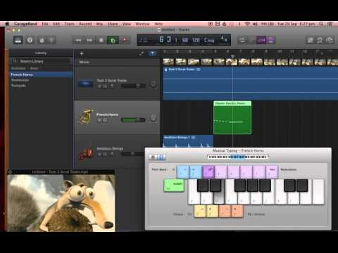 Composing a soundtrack to accompany a scene on Garageband