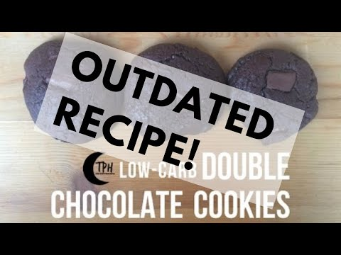 Keto Double Chocolate Chunk Cookies | Low-Carb Chewy Chocolate Cookies