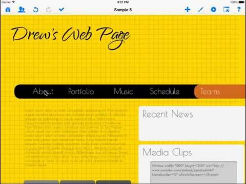 How to change web page font size and font style using HTML Egg for iPad