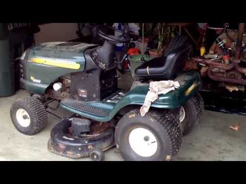 Craftsman riding mower deck belt change