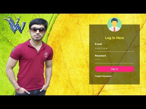Transparent login form html css | Learn html and css | By Amazing Techno Tutorials