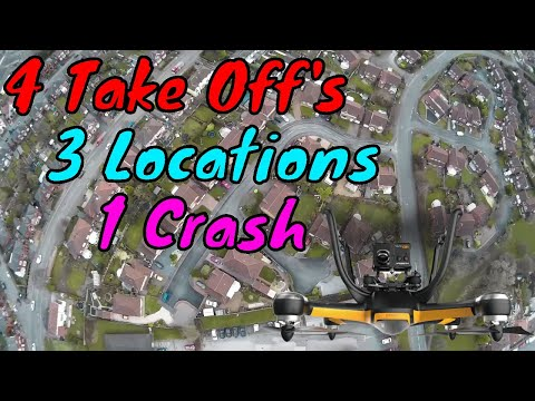 4 Take Off's, 3 Locations and 1 Crash