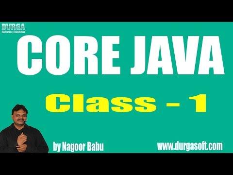 Learn Core Java Tutorial Online Training by Nagoor Babu sir On 01-03-2018