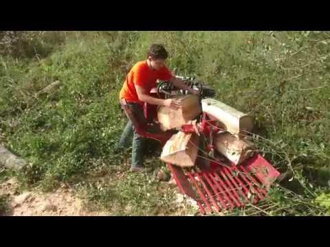 Massive Hardwoods - Timber Wolf hydraulic wood splitter and gets STUCK 4K