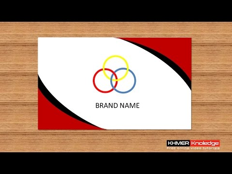 Create Creative Business Card in PowerPoint 2013, 2016 #1