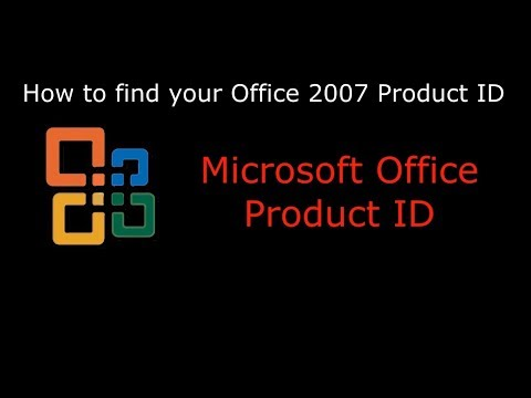 How to find your Microsoft Office 2007 Product ID