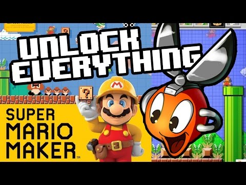 Unlock ALL ITEMS in Super Mario Maker FAST - Cutman Plays