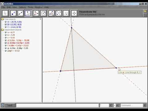 How to construct the orthocenter of a triangle in Geogebra.