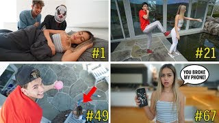 PRANKING My GIRLFRIEND 100 TIMES in 24 HOURS!