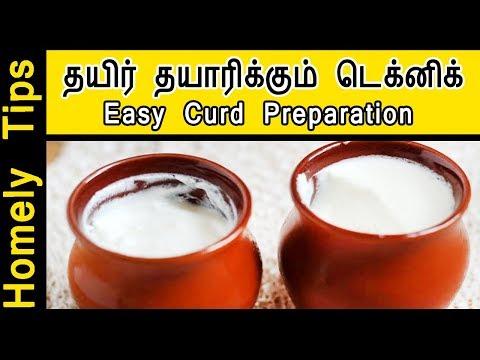 தயிர் தயாரிக்கும் டெக்னிக் | Homemade Curd preparation in Tamil | Homely tips