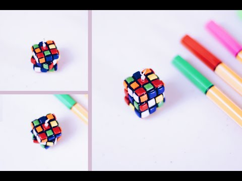 MINIATURE RUBIK'S CUBE ☞ DIY Polymer Clay Tutorial