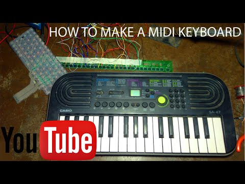 How To Make A MIDI Keyboard At Home - CHEAPEST MIDI KEYBOARD EVER!!!