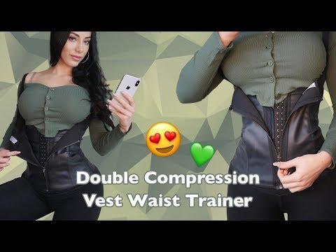 Intermediate Waist Training - Double Compression Vest Latex Cincher!