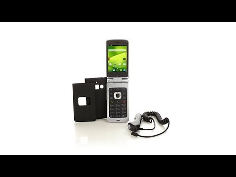 ZTE Android Flip TracFone w/1200 Minutes Texts and Data