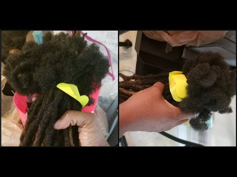 ReAttaching Locs | The LOC Comb Out Process   *Step 2