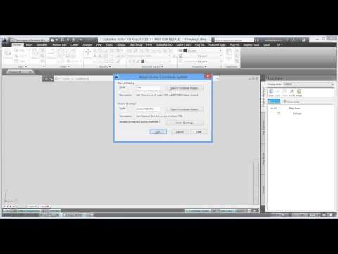 AutoCAD Map3D: CAD Data Coordinates Transformation