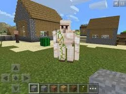 How To Make Iron Golems In Minecraft Pocket Edition